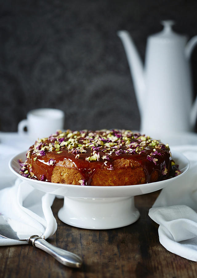 Spiced Orange Cake with a Sticky Jaggery Syrup | Tanya Zouev
