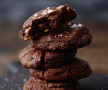 Dark chocolate cookies with peanut butter & sea salt | Tanya Zouev